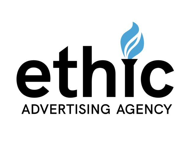 Ethic Advertising Logo black and blue