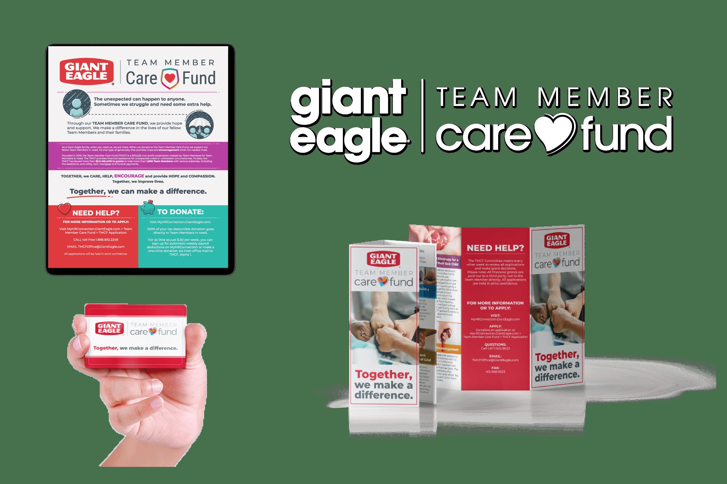 giant eagle team member care fund branding