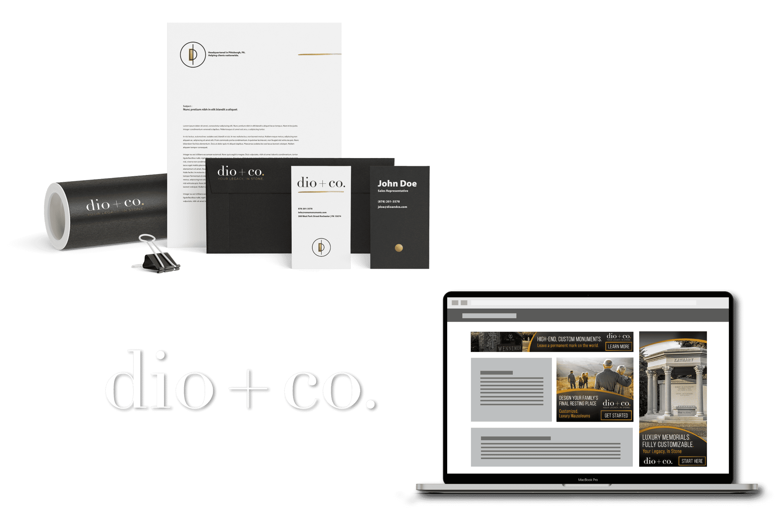 dio and co graphic design work