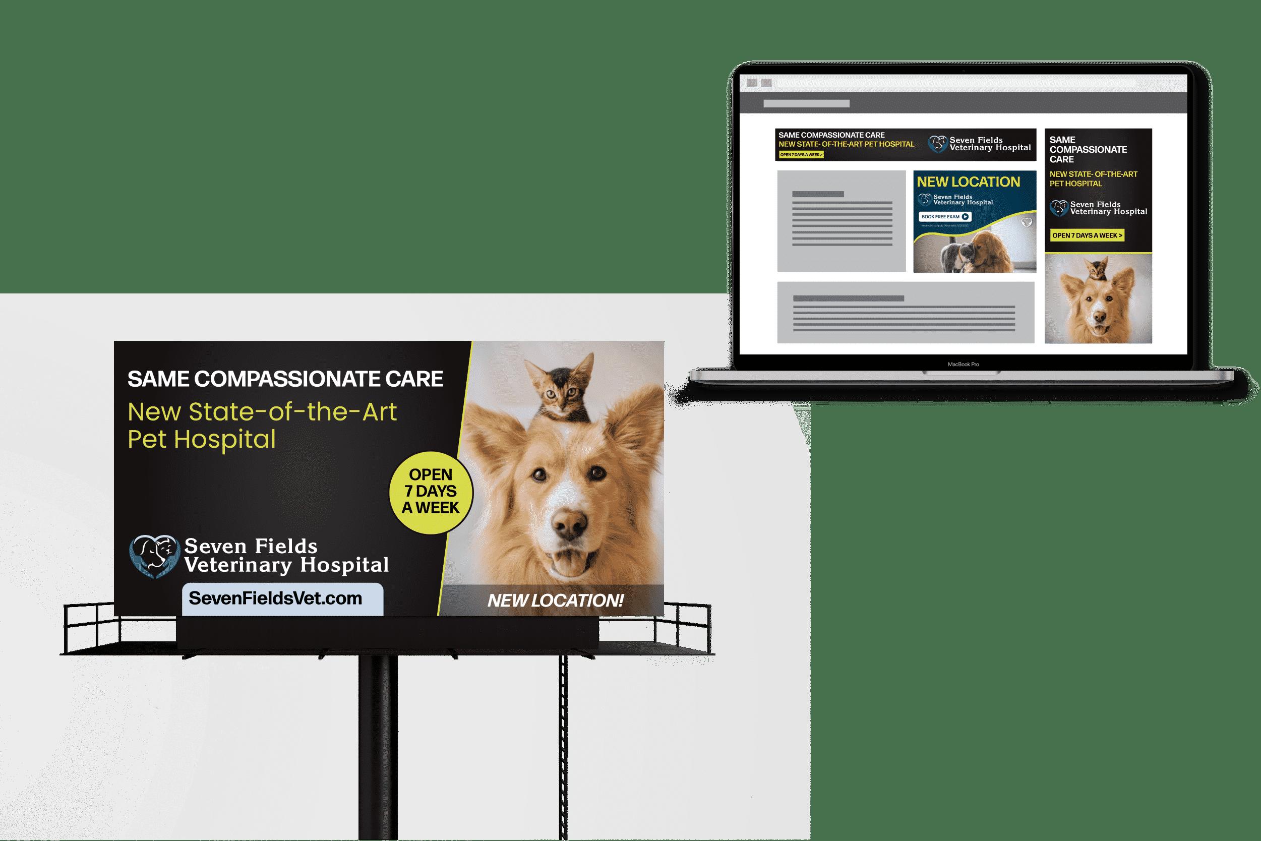 seven field vet graphic design