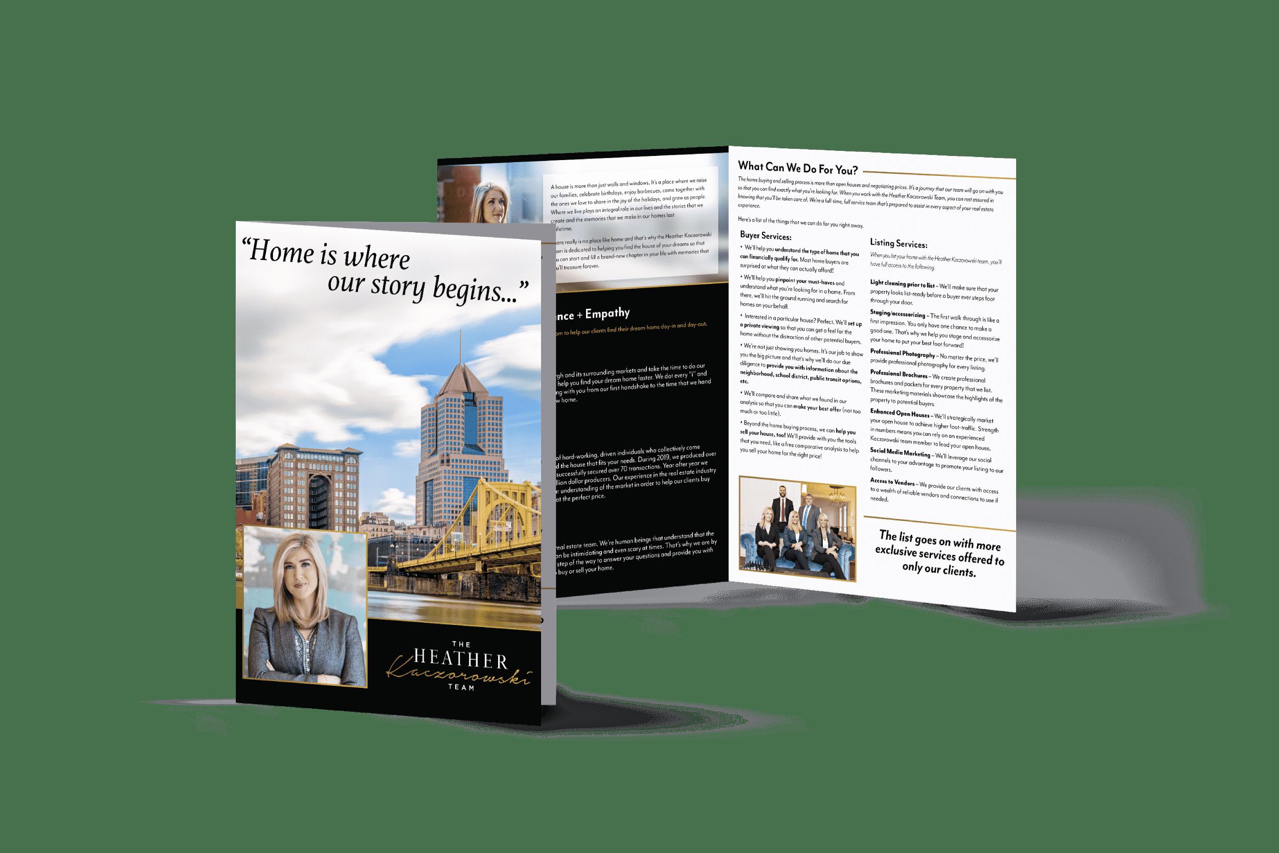 Berkshire Hathaway marketing pieces design