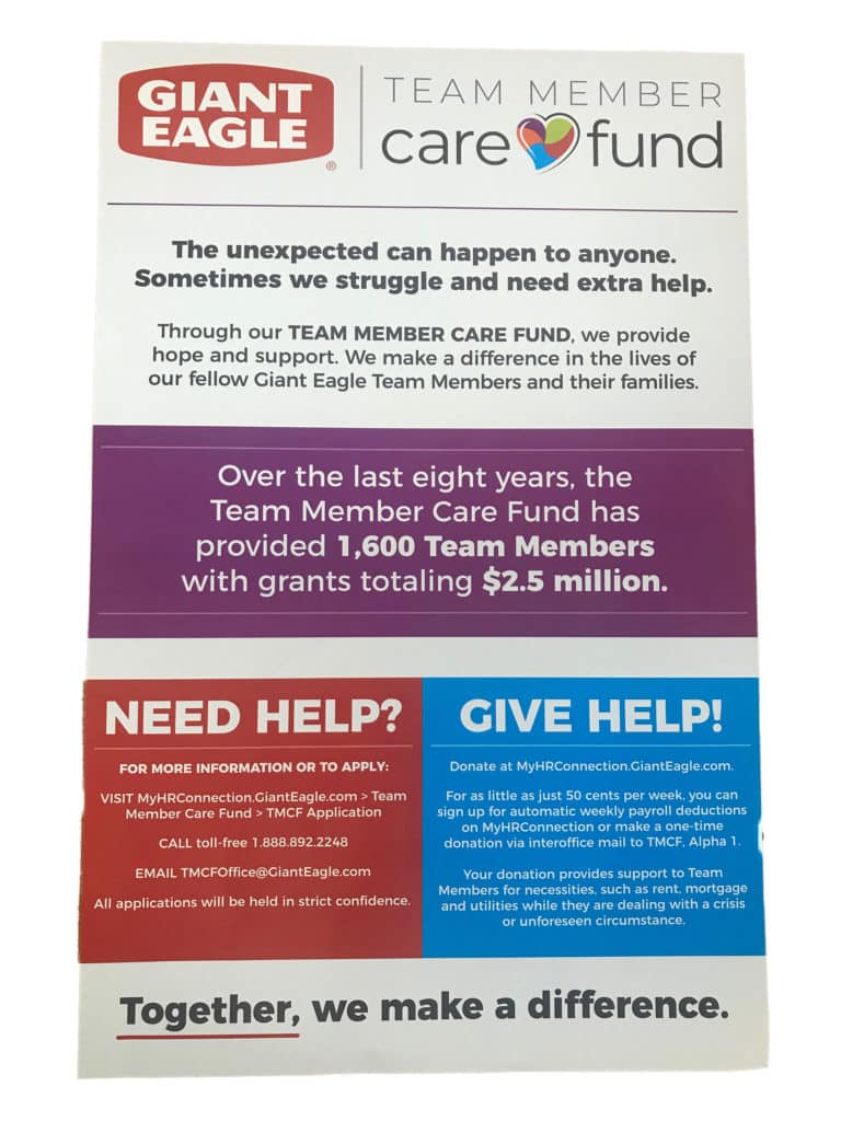 Giant Eagle Care Fund Poster