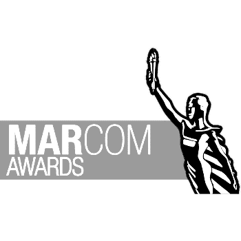 Tethic advertising agency featured on Marcom awards logo