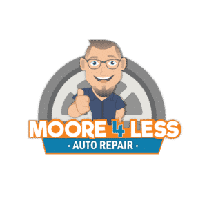 Moore 4 less auto repair logo by ethic advertising agency