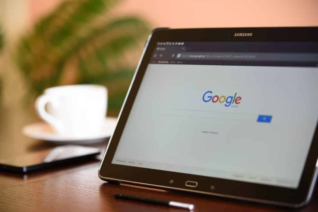 google search on samsung tablet fro ethic advertising google grants