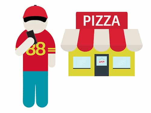geofence graphic pizza