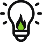 light bulb icon with greeen