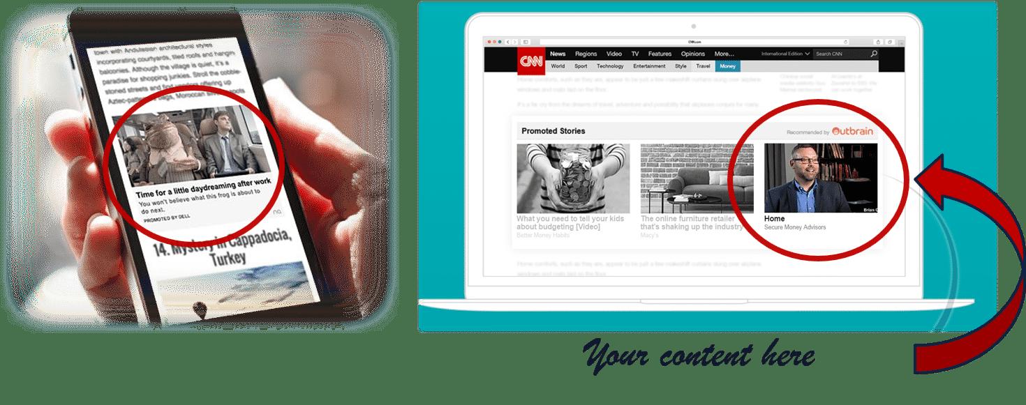native ad website graphic
