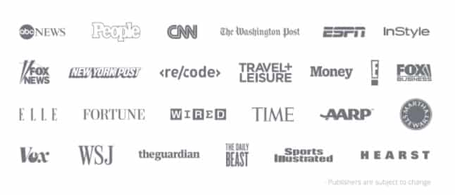 Native Advertising sample publisher list