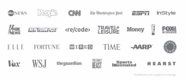 Native Advertising sample publisher list