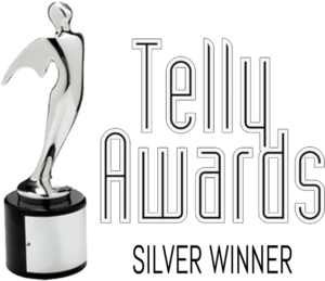 silver telly award ethic adverting agency trophy
